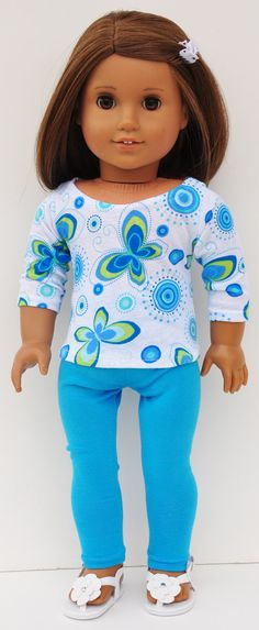 American+Girl+Clothes++Turquoise+Butterfly+by+LoriLizGirlsandDolls,+$24.00