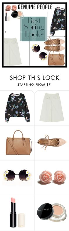 """""""spring 2016"""" by kittycatcorner on Polyvore featuring H&M, Tory Burch, Marc Jacobs, women's clothing, women, female, woman, misses, juniors and genuinepeople"""