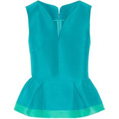 Roksanda Lisson cotton and silk-blend dupion peplum top