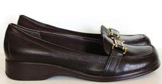 """Liz Claiborne Dark Brown Slip-On """"Susan"""" Loafers-Womens-Sz 10M #LizClaiborne #LoafersMoccasins"""