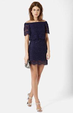 Topshop+Bardot+Lace+Dress+available+at+#Nordstrom