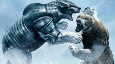 Golden Compass Bear Fight Wallpapers in jpg format for free download