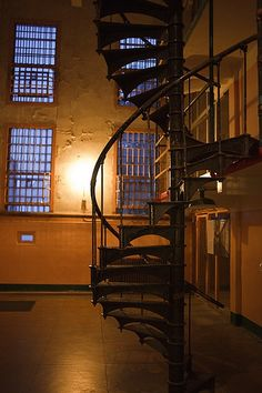 A staircase at Alcatraz
