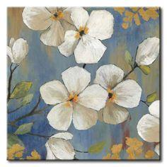 32_JNN60 _ En Flor II / Cuadro Flores Blancas en Rama