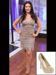 LITZY    Copia el look de la protagonista de Una maid en Manhattan con estos zapatos de plataforma en charol color nude de Chinese Laundry, que cuestan $69.95.