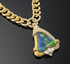 -Dunay- Black Opal – Diamond Necklace – Designer jewelry- high end- Luxury jewels – M.S. Rau Antiques- | Gold Jewelry Rules Everything