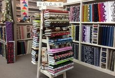 Countryside Village Gifts and Quilt Fabric Shop -- Neat display.