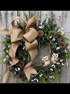 winter owl wreaths