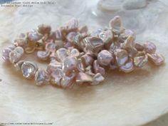 "AAA Lavender Violet Medium Keshi Petals Freshwater Pearl Necklace 19"" AUD$105"