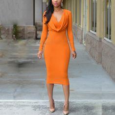 Backless Maxi Dresses, Chiffon Maxi Dress, Bodycon Dress, Mini Dress With Sleeves, Dress Brands, Deep, Work Attire, Work Outfits, Dress Outfits