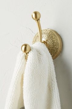 Discover unique Bath Hardware at Anthropologie, including the seasons newest arrivals. Brass Bathroom, Bathroom Hardware, Small Bathroom, Bathroom Ideas, Bathroom Inspo, Master Bathroom, Bathroom Trends, Budget Bathroom, Bathroom Designs