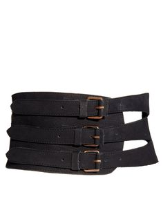 Sophia Kokosalaki For ASOS Leather Wide Laser Cut Panel Belt.