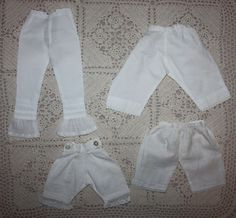 Four Pairs of Antique Bloomers