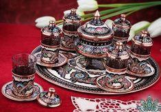 Turkish Greek Coffee Tea Espresso Serving Cups Set Special Embroidered Painted  #Handmade #Turkish