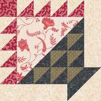 """Free Quilt Block Patterns: Flower Basket Quilt Block Pattern - 12"""""""