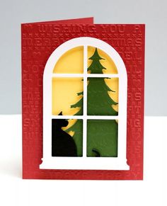 Christmas Window by jeanmanis - Cards and Paper Crafts at Splitcoaststampers
