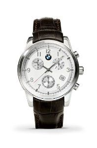 BMW 80262179245 Men's Quartz Chrongraph Watch by BMW. $189.00. BMW Men's Quartz Chrongraph. Watch with brushed stainless steel case and white Dial & Brown leather Band Produced by Tourneau