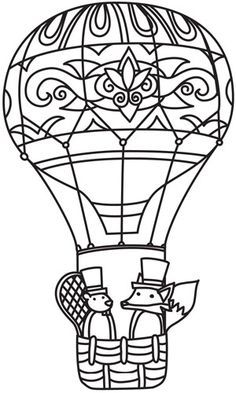 Oh the Places You'll Go Hot Air Balloon Seuss Inspired