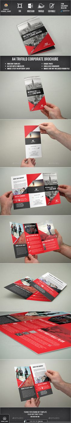 Corporate Trifold Brochure Template #design Download: http://graphicriver.net/item/corporate-trifold-brochure/12374875?ref=ksioks