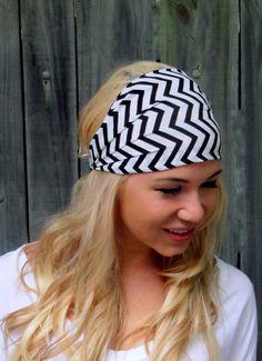https://www.etsy.com/listing/189902073/ Black & White Chevron Wide Headband