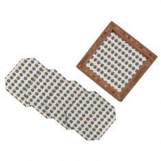 Vy La Geo Owl Print Blue Coaster Set | DENY Designs Home Accessories