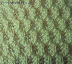 Knitting Stitch Patterns -- Knit & Purl Stitches--                 Crack