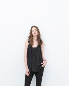 ZARA - WOMAN - CROCHET FRONT TOP