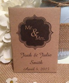 Custom Kraft style envelope Mr and  & Mrs by FavorUniverse on Etsy