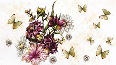 Hd Desktop, Floral Backgrounds, Butterfly, Dividers, Headers, Wallpaper, Celebrities, Flowers, Plants