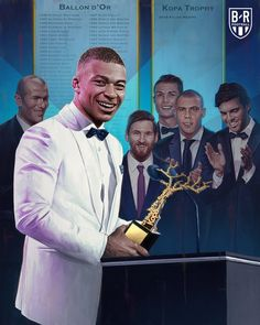 Kylian Mbappe wins the first-ever Kopa Trophy for best player under 21 - Soccer Photos Football Shirts, Football Players, Mbappe Psg, France Outfits, France Football, Football Mondial, Jesse Lingard, Football Images, Display