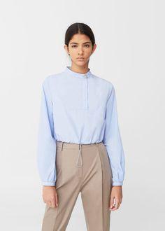 Elastik bağcıklı kısa bluz   MANGO