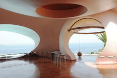Inside the Palais Bulles, the venue for Dior Cruise '16 #dior
