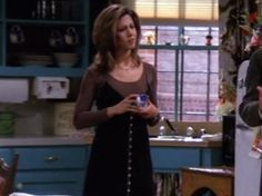 "A slip dress and jersey combo | 20 Things Rachel Wore In ""Friends"" That You'd Definitely Wear Now"