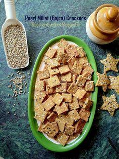 Annapurna: Pearl Millet (Bajra) Crackers with Sesame Seeds Millet Flour, Millet Recipes, Nigella Seeds, No Bake Snacks, Flour Recipes, Diabetic Friendly, Tray Bakes