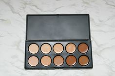 Creme contour palette - perfect for both dry and oily skin types. // Inception of Beauty Highlight And Contour Palette, Contouring And Highlighting, Synthetic Brushes, Liquid Highlighter, Summer Beauty, Spring Collection, Beauty Trends, Oily Skin, Sculpting