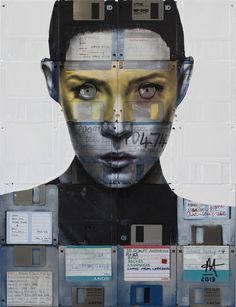 NICK GENTRY- made from floppy disks.