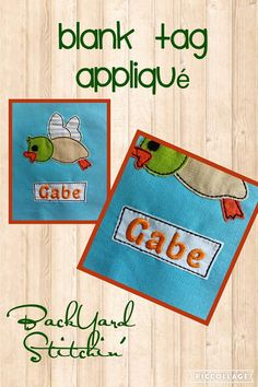 ITH Blank Name Tag Raggy Applique DIGITAL Embroidery Design
