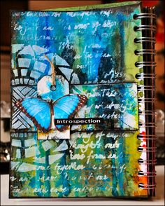 """Creativity with a journal page """"Introspection""""; Dec 2014"""