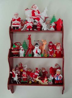 Vintage Rosbro, Tico, Irwin etc. Hard Plastic Christmas Toys, Candy Containers, Ornaments and Decorations