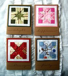 LAYERED PAPER QUILTING with SCRAPS... see templates on this board which link to instructions