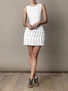 Azzedine Alaïa Origami pleated-skirt dress for women