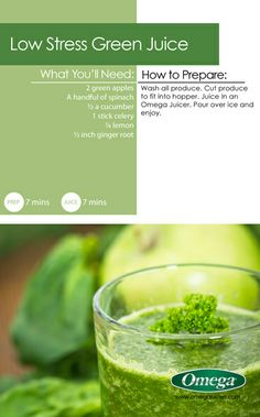 Life & Tax Day are stressful enough...De-stress with this Low Stress Green Juice and @Omega Appliances!