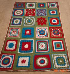 The 2014 Moogly Afghan Crochet-Along! All done!  3/15 looks like some of the patterns are not free now.. still might try to make one using the free blocks.. maybe..