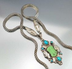 Hey, I found this really awesome Etsy listing at https://www.etsy.com/listing/483680768/snake-necklace-art-deco-necklace-silver
