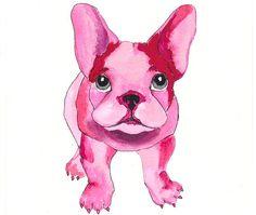 Bulldog in pink.