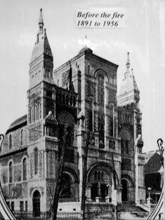 Ancienne Église Saint Gabriel avant l'incendie  Photographie  Fondation du patrimoine religieux du Québec ©Fondation du patrimoine religieux...