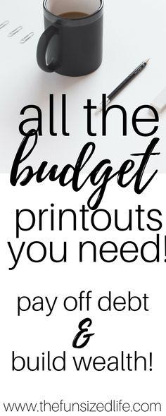 These budget printouts totally saved my finances! It's so easy to keep a budget, pay off debts and even plan for a smart, frugal vacation! #budget #printouts
