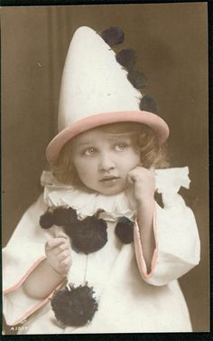 Vintage photo French Pierrot Clown