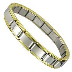 Black cat walking round photo 9mm stainless steel italian charm bracelet link