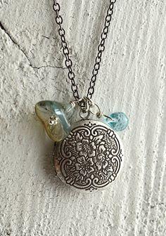 "Hali'a Aloha means ""cherished memory."" Silver locket necklace by Kahili Creations of Hawaii..."